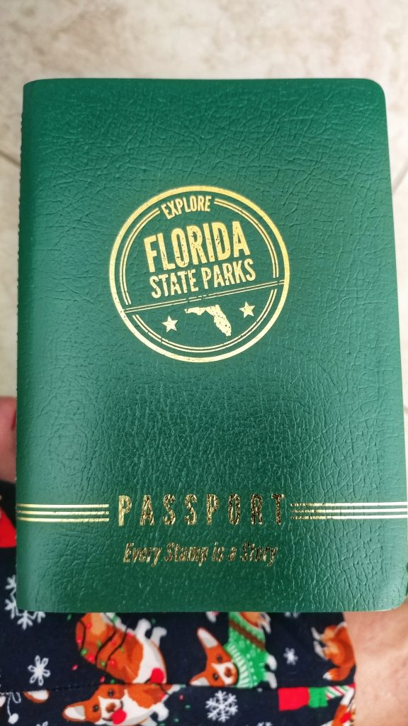 A photo of the Florida State Park Passport book